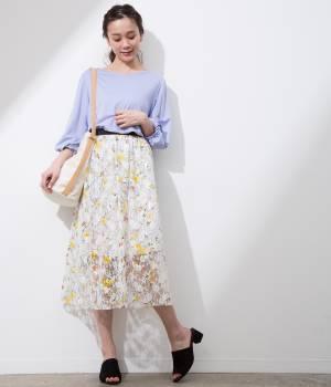 ViS - ビス | 【マルチWAY】花柄レースギャザースカート