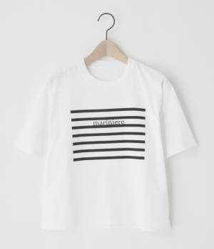 Adam et Ropé FEMME - アダム エ ロペ ファム   ボーダープリントTシャツ