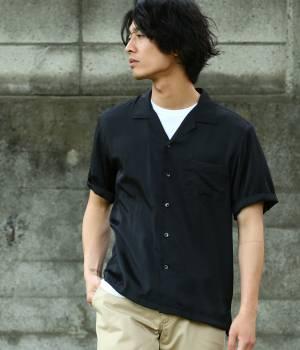 JUNRed - ジュンレッド | オープンカラー5分袖シャツ