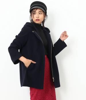 ROPÉ mademoiselle - ロペ マドモアゼル | 【先行予約】【フード取り外し可能】2WAYミドル丈コート