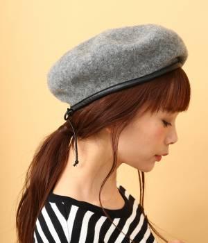 ViS - ビス   パイピングフェルトベレー帽