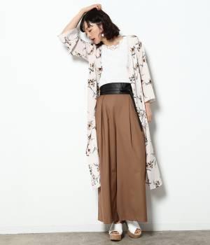 ViS - ビス   【sweet5月号掲載】花柄プリントワイドスリーブワンピース