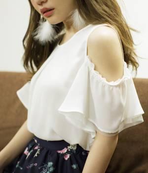 ViS - ビス | 【sweet5月号掲載】【2WAY】フレアスリーブブラウス