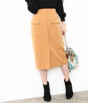 ViS - ビス | 前ボタンタイトスカート