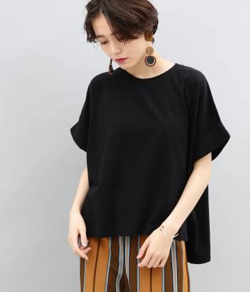 ADAM ET ROPÉ FEMME - アダム エ ロペ ファム   ロールアップBIG-Tシャツ