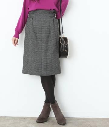 ViS - ビス | チェック柄サイドベルトタイトスカート