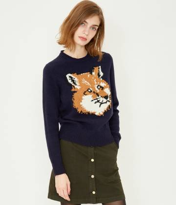 MAISON KITSUNÉ PARIS WOMEN - メゾン キツネ ウィメン | FOX HEAD PULLOVER
