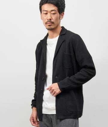ル ジュン メン                                                                 ミラノリブニットジャケット                                        LE JUN MEN - ル ジュン メン | ミラノリブニットジャケット