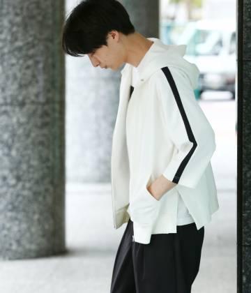 JUNRed - ジュンレッド   【数量限定!LUCKY PRICE】袖ラインZIPパーカー