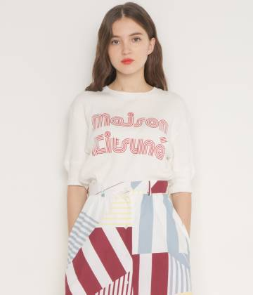 MAISON KITSUNÉ PARIS WOMEN - メゾン キツネ ウィメン | 【先行予約】RIBBED TEE-SHIRT  STRIPED MK