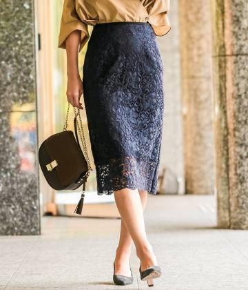 ロペ                                                                 【セットアップ対応】Lilyラッセルレースタイトスカート                                        ROPÉ - ロペ | 【セットアップ対応】Lilyラッセルレースタイトスカート