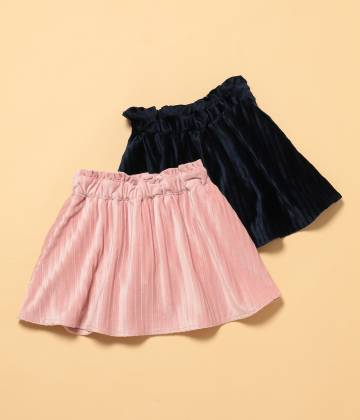 ROPÉ PICNIC KIDS - ロペピクニック キッズ | 【ROPE' PICNIC KIDS】ベロアプリーツスカート