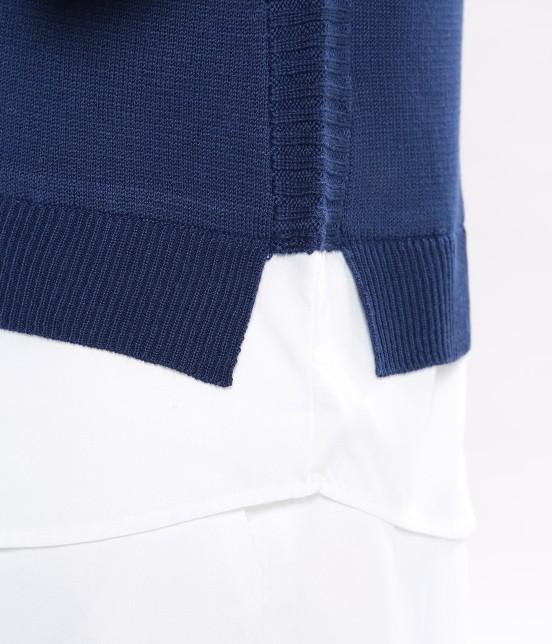 ビス | 布帛ドッキングニットベスト - 5