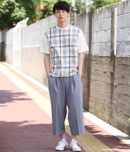 ジュンレッド   【予約】チェック布帛切替プルオーバーT - 7