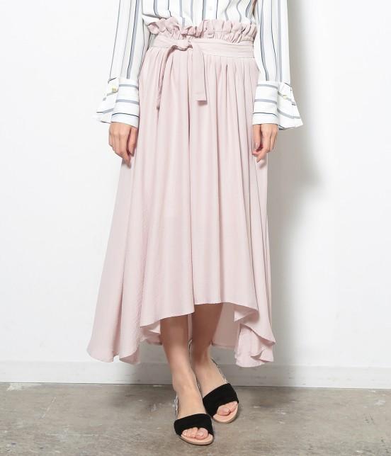 ロペピクニック | 【HIRARI COLLECTION】ヴィンテージサテンスカート | ピンク系