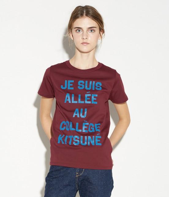 MAISON KITSUNÉ WOMEN | T SHIRT JE SUIS ALLE - 9