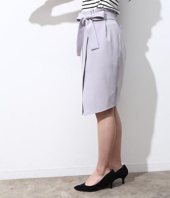 ビス | 【今だけ!WEB店舗限定10%OFF】★新色追加★リボンベルト重ね前スリットスカート - 1