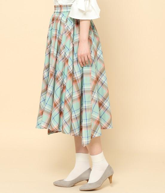 ロペピクニック   【10%OFF Campaign】マドラスチェックイレヘムスカート - 1