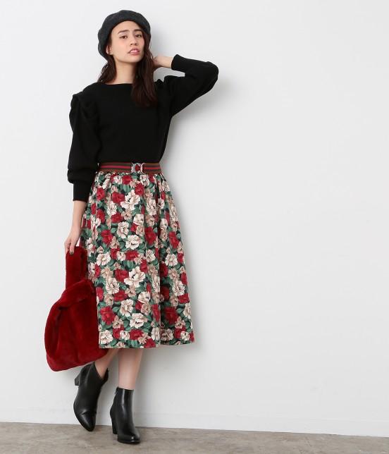 ビス | 【sweet11月号掲載】【sweet×ViSコラボ】フラワープリントスカート - 7