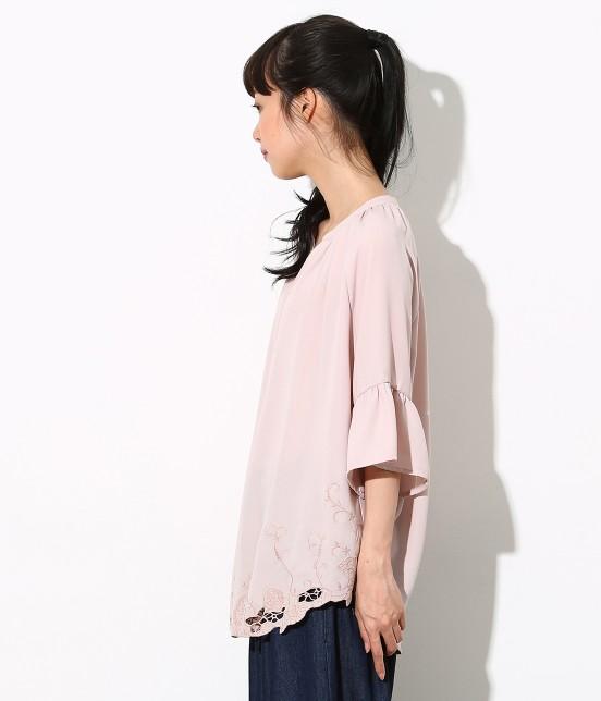 ロペピクニック | 裾刺繍スキッパーブラウス - 1