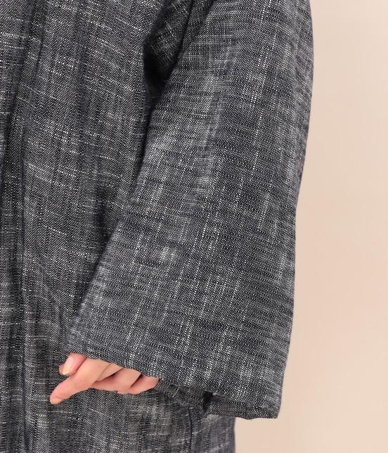 サロン アダム エ ロペ ウィメン | 【宮田織物 for SALON】ロング綿入れ半纏 - 6