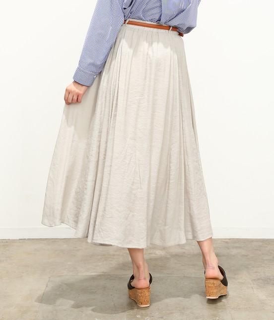 ビス | 【ただいまセール開催中】【SET】ベルト付きスラブローンギャザースカート - 2