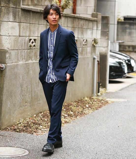 ジュンレッド   【トレンドアイテム】バンドカラーシャツ - 10