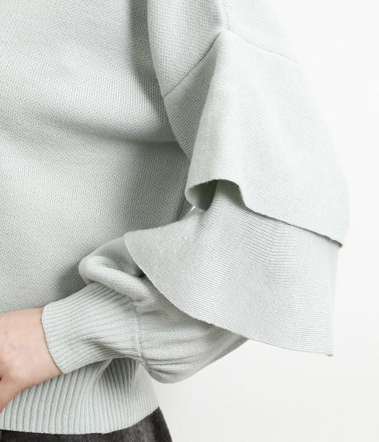ロペピクニック | 【WEB限定】袖フリルニットプルオーバー - 4