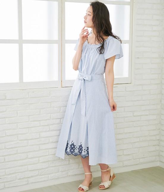 ロペピクニック | 【TIME SALE】【50TH SPECIAL COLLECTION】【2WAY】裾刺繍オフショルダーブラウス - 15