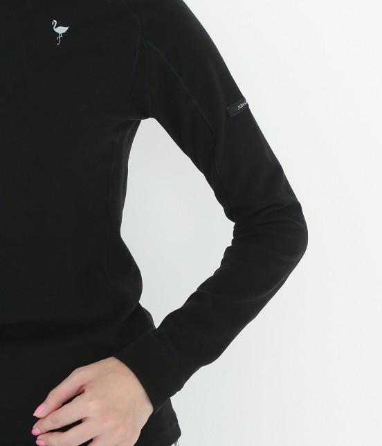ジュン アンド ロペ | 【保温機能】ソフトシームZIPハイネックプルオーバー - 4
