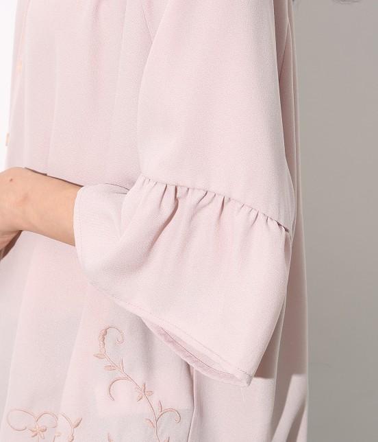 ロペピクニック | 裾刺繍スキッパーブラウス - 5