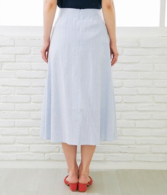 ロペピクニック   【50TH SPECIAL COLLECTION】無地/ストライプ裾刺繍スカート - 2