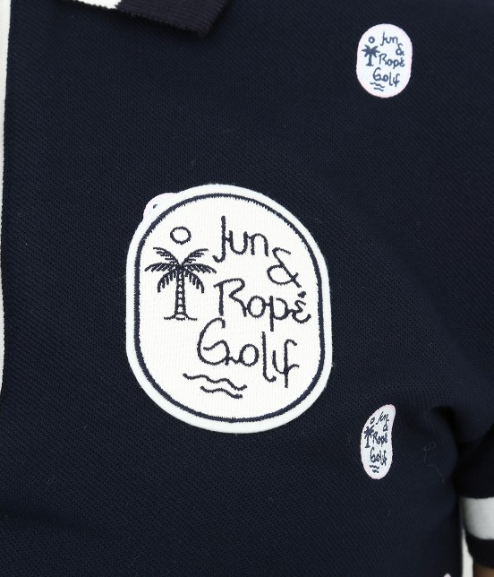 ジュン アンド ロペ   【UV CUT】【吸水速乾】【接触冷感】ワッペン柄プリントポロシャツ - 6