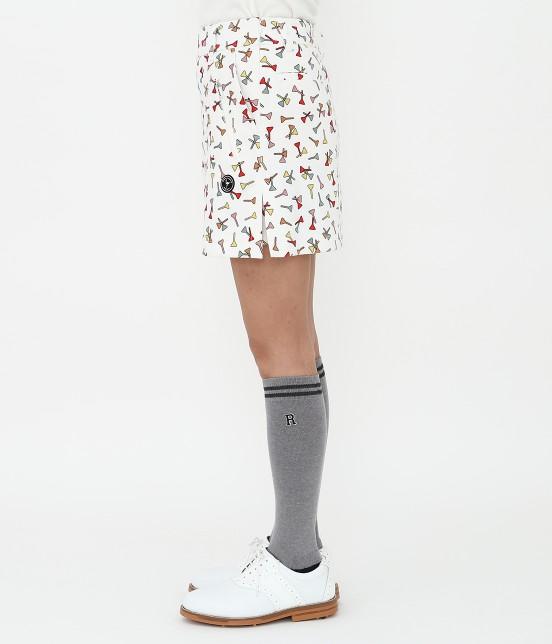 ジュン アンド ロペ | ティプリントパンツ一体型スカート - 1