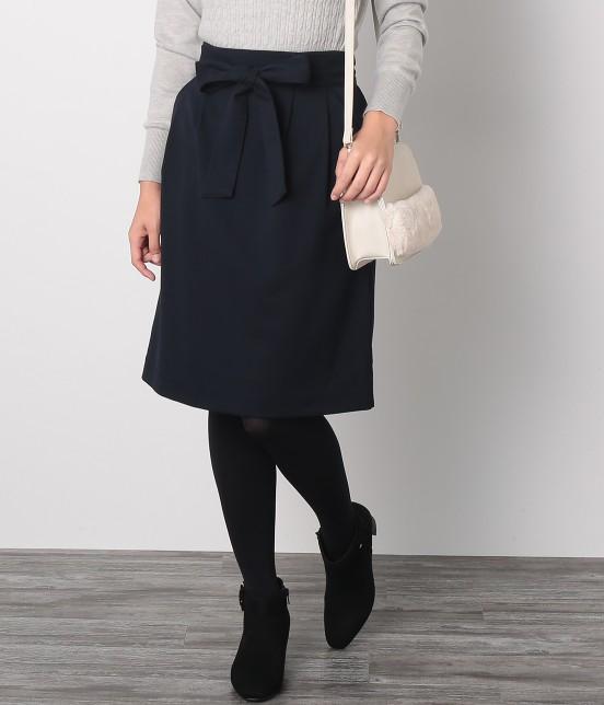 ロペピクニック | クラシックボタニーウエストリボンスカート | ネイビー