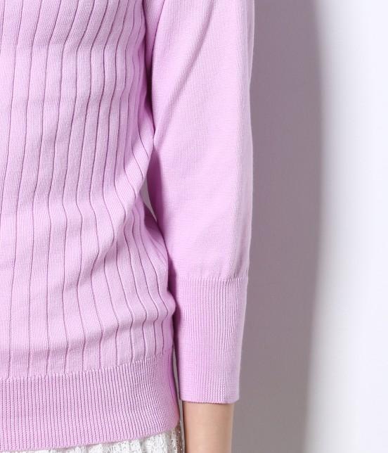 ロペピクニック | 綿100%製品染めリブ編みプルオーバー - 4