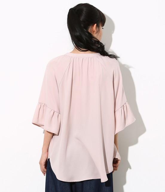 ロペピクニック | 裾刺繍スキッパーブラウス - 2