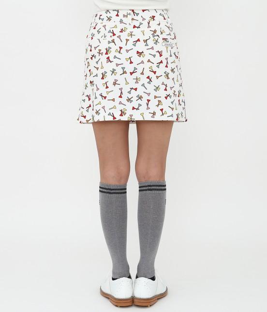 ジュン アンド ロペ | ティプリントパンツ一体型スカート - 2