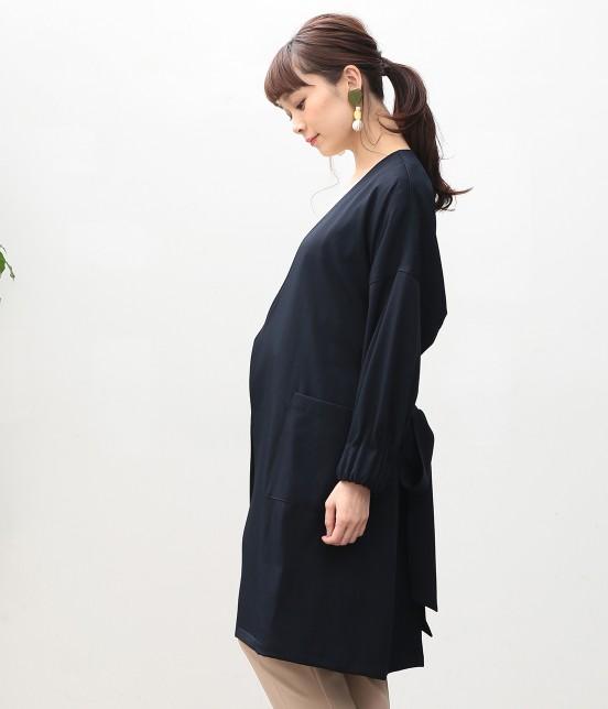 ビス | タックボリューム袖コート - 1
