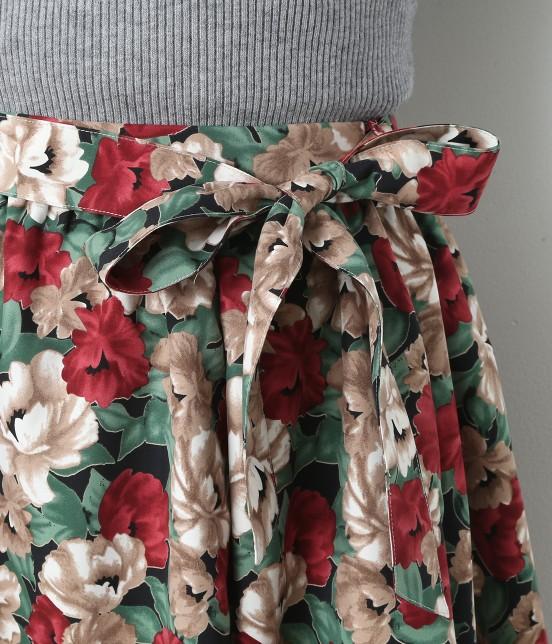 ビス | 【sweet11月号掲載】【sweet×ViSコラボ】フラワープリントスカート - 3