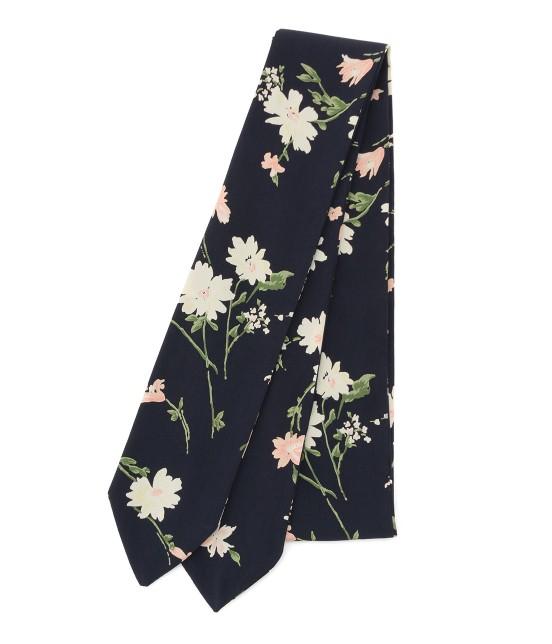 ビス | 【sweet4月号掲載】小花柄ナロースカーフ | ネイビー