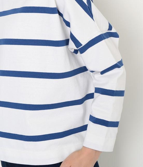 アダム エ ロペ ファム | 【Traditional Weatherwear】 ビッグマリンボートネックシャツ - 7
