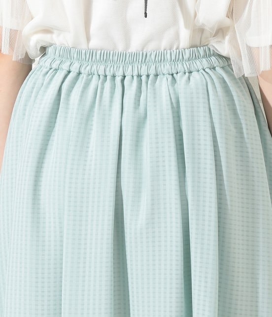 ロペピクニック   シアーチェックギャザースカート - 4