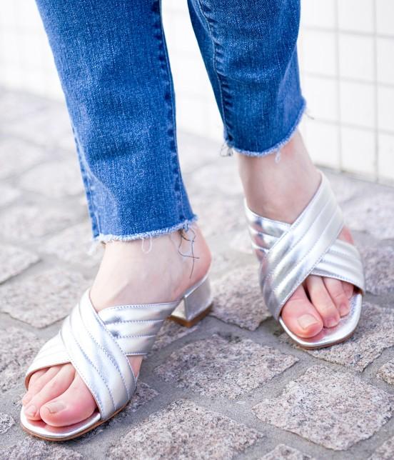 アダム エ ロペ ファム | 【FABIO RUSCONI】Metalic Sandals | シルバー