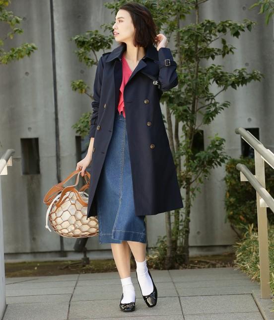 ビス   【はっ水加工+花粉ガード】ライナー付きトレンチコート - 18
