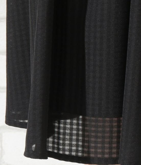 ロペピクニック   シアーチェックギャザースカート - 7