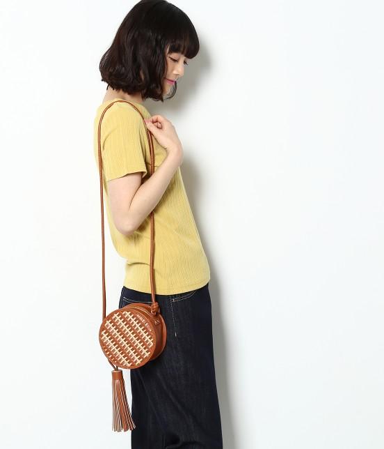 ロペピクニックパサージュ | 【Casselini】ラタンサークルショルダーバッグ | キャメル