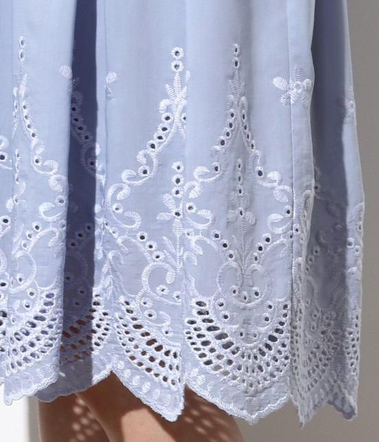 ロペピクニック   スカラップ刺繍スカート - 4