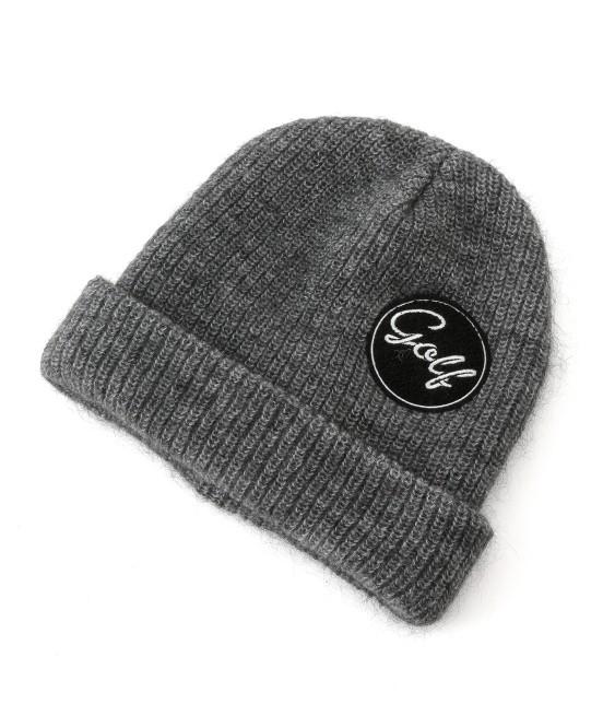 ジュン アンド ロペ | ワンポイントワッペン付きニット帽 | グレー