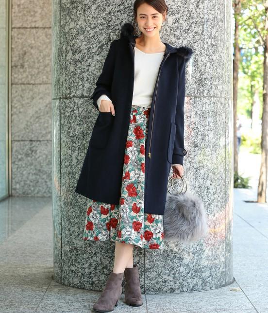 ビス | 【sweet11月号掲載】【sweet×ViSコラボ】フラワープリントスカート - 10